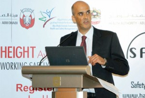 Abu Dhabi program advises, 'know the height you work at'