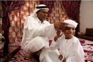 Emirati boy Abdullah, becomes a part of UAE history