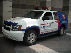 Dubai Ambulance Services follow Canada's health regulations