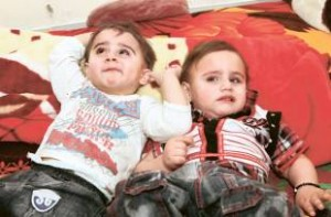 Two out of three of these triplet Islamabad boys are blind