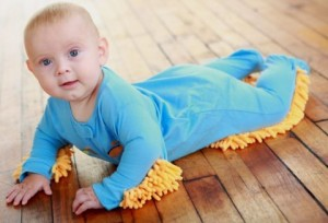 Put Your Freeloading Baby to Work With the Baby Mop