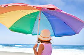 Umbrellas offer good protection from UV radiation