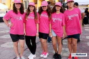 Hundreds turn out in Abu Dhabi for breast cancer Pink Walk