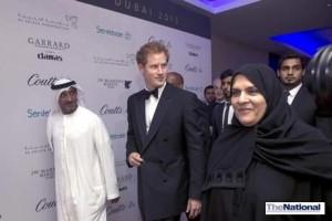 Prince Harry raises millions of dirhams for children with HIV during Dubai visit