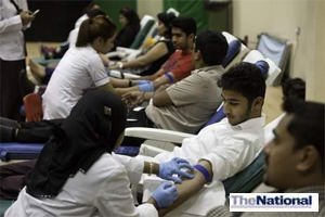 Dubai Gem school pupils turn out in numbers to give blood