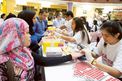 Free diabetes screening in Dubai Mall