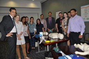 Euler Hermes GCC trained in CPR-AED organised by AHD