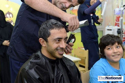 """It was beautiful"": Sheikh Abdullah brightens day of young cancer sufferers in Al Ain"
