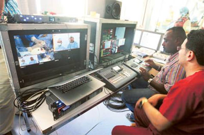 Sharjah heart surgery broadcast live to USA conference
