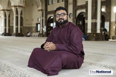 Muslims in the UAE say praying does not hurt knees