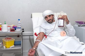 Sheikh Hamdan tweets blood donor appeal