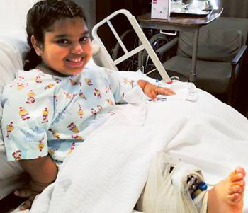 Surgery helps Dubai-based girl stand on her own two feet