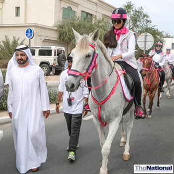 Sheikh Mohammed shows support at Pink Caravan breast cancer ride
