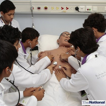Students play doctor at Dubai Medical Centre