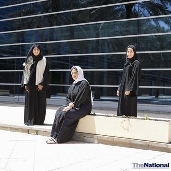 Zayed University students school pupils on good health