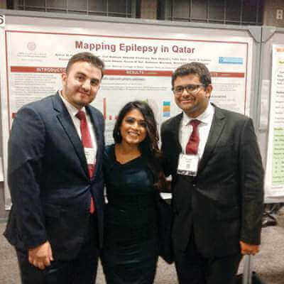 WCMC-Q graduate doctors present research at neurology forum in US