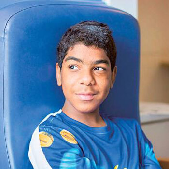 Dubai boy's life saved after pioneering treatment