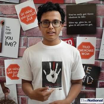 Abu Dhabi teenager launches anti-smoking campaign