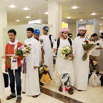 Injured Yemenis leave UAE following medical treatment