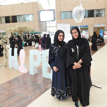 Zayed University students raise breast cancer awareness