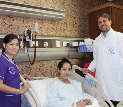 Dubai hospital helps heal teen's childhood scars