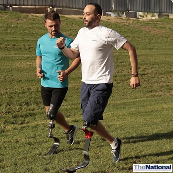 Paralympic gold medallist inspires UAE amputees to take up running
