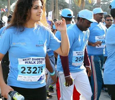 When Dubai was painted blue for diabetes awareness