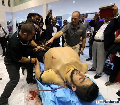 Training suit and artificial CPR unit evokes huge interest
