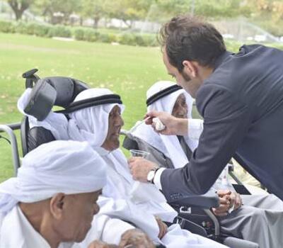 Elderly Emiratis gather in Al Mamzar Park and recall old days