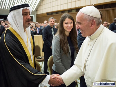 Pope Francis praises UAE for healthcare advances