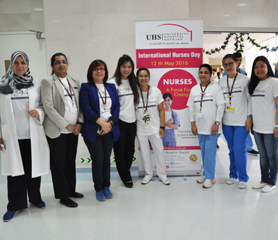 University Hospital Sharjah celebrated International Nursing Day