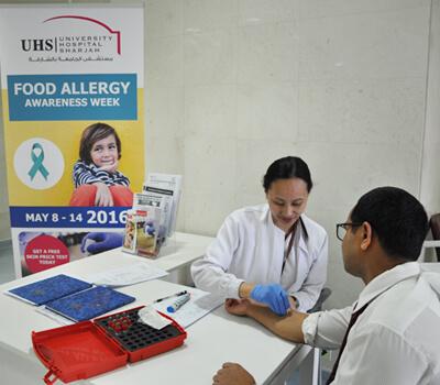 University Hospital Sharjah is celebrating Food Allergy Awareness Week