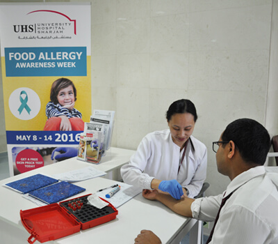University Hospital Sharjah is celebrating Food Allergy Awareness Week