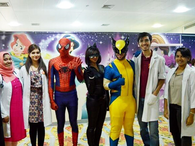 When Spiderman visited a Dubai hospital
