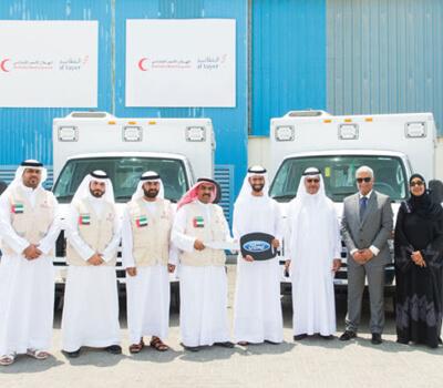 Al Tayer Group donates ambulances to Emirates Red Crescent
