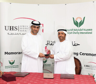 UHS and Sharjah Charity International forge new ties through MOU