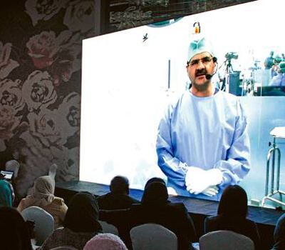 Keyhole surgery workshop being telecast live in Dubai