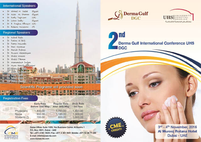 University Hospital Sharjah 2nd Derma Gulf International Conference