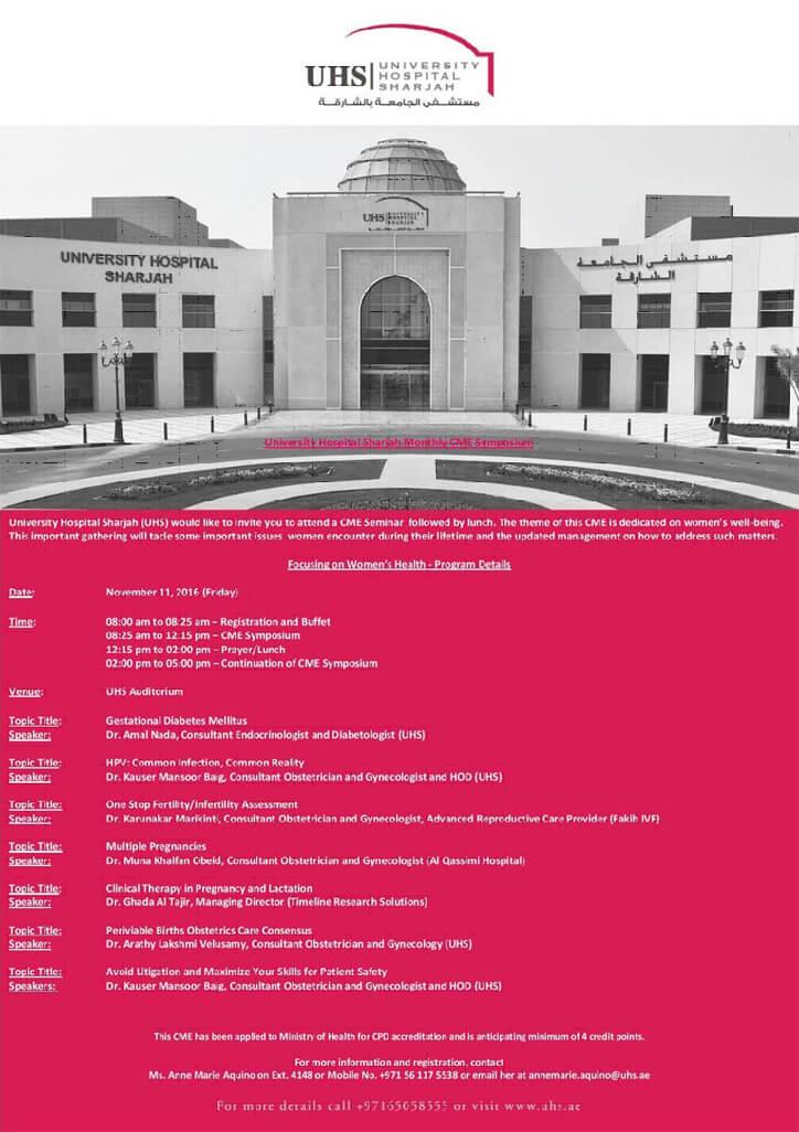 University Hospital Sharjah Monthly CME Symposium