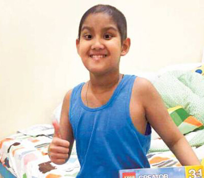 Dubai student fights cancer and is happy to be back in Dubai